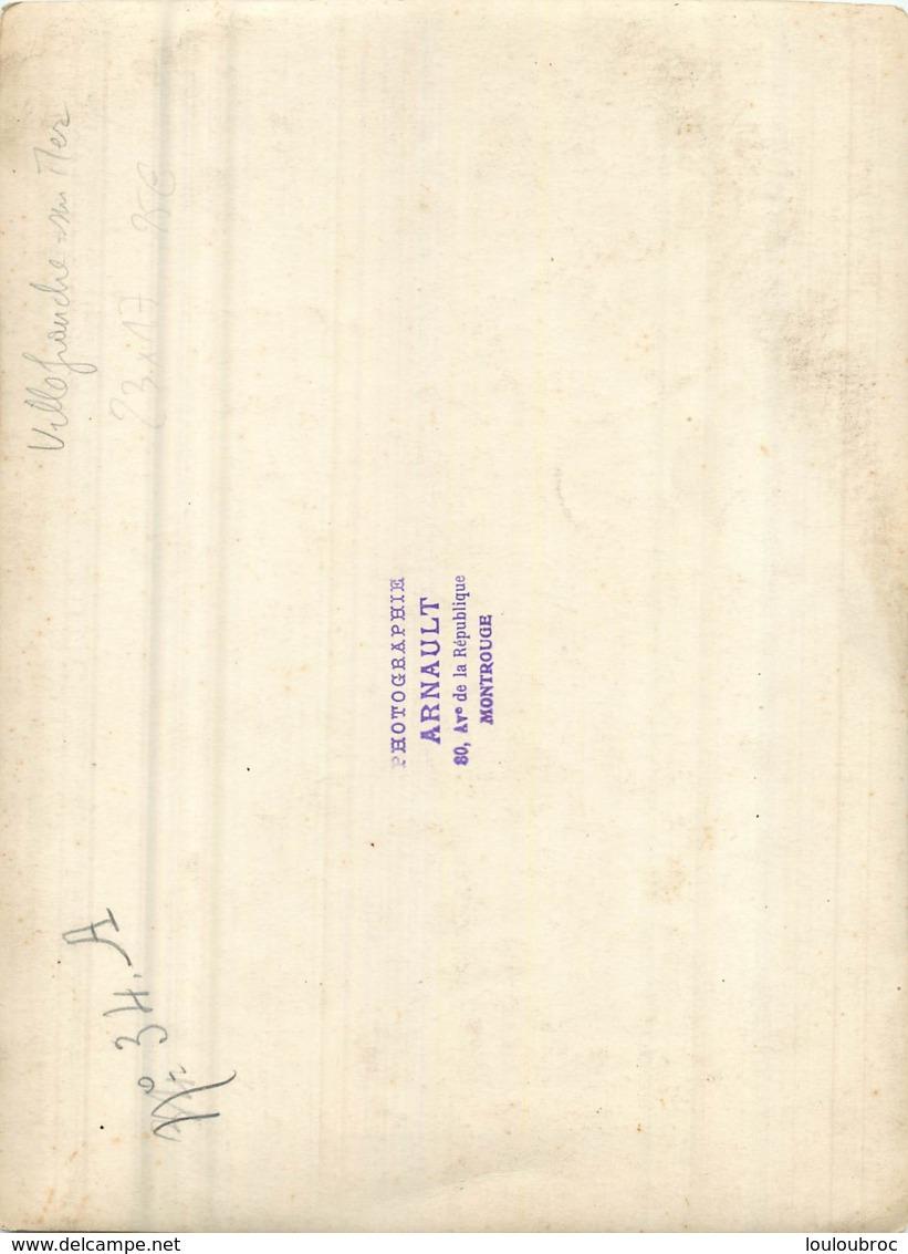 GRANDE PHOTO ORIGINALE VILLEFRANCHE SUR MER COMBAT NAVAL FLEURI  23 X 16 CM - Lugares