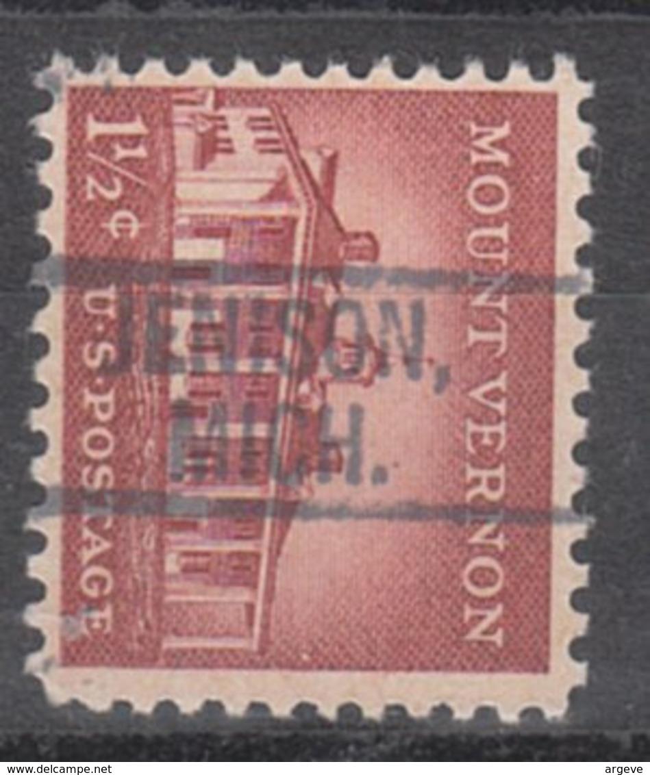 USA Precancel Vorausentwertung Preo, Locals Michigan, Jenison 802 - Vereinigte Staaten