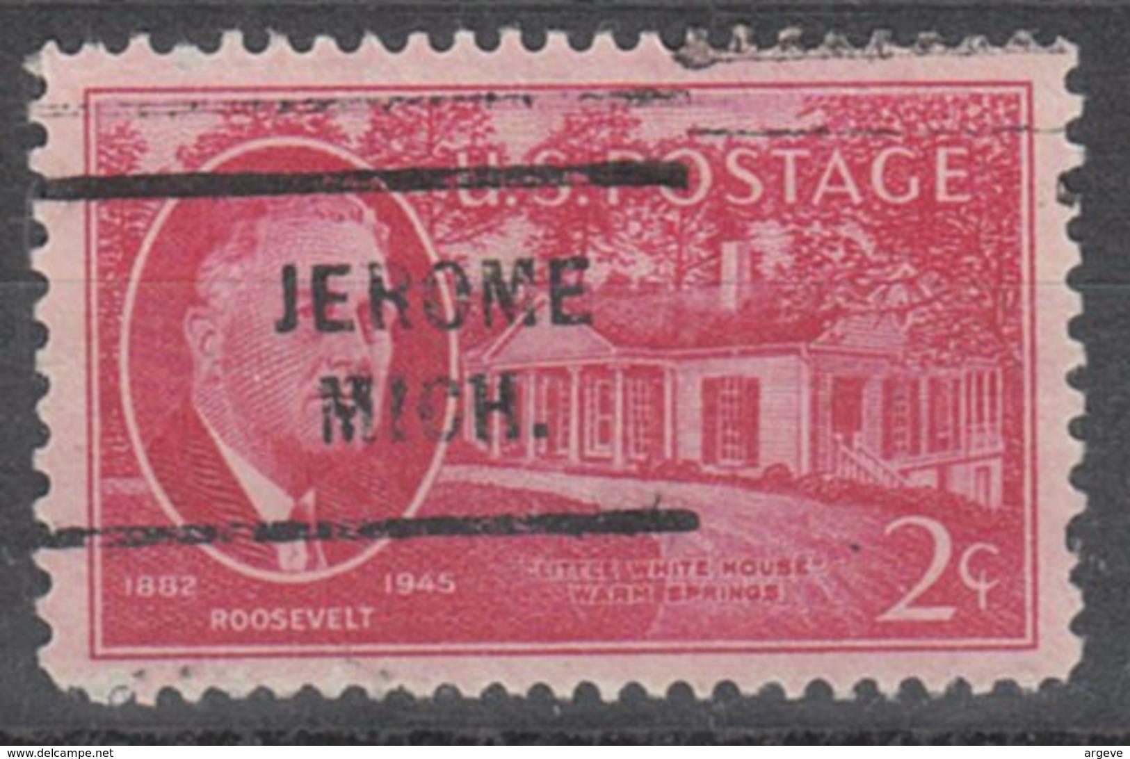 USA Precancel Vorausentwertung Preo, Locals Michigan, Jerome 712 - Vereinigte Staaten
