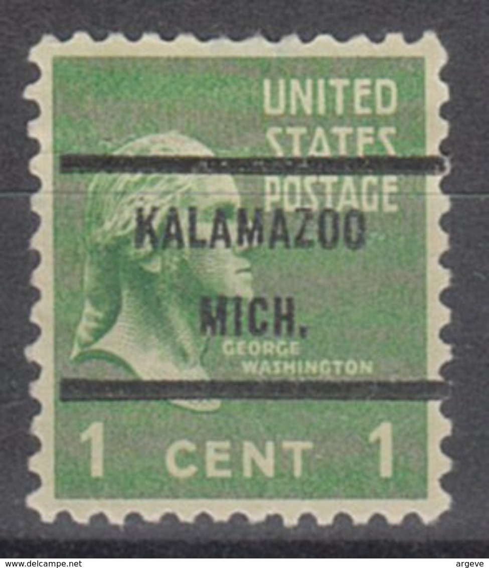 USA Precancel Vorausentwertung Preo, Bureau Michigan, Kalamazoo 804-71 - Vereinigte Staaten