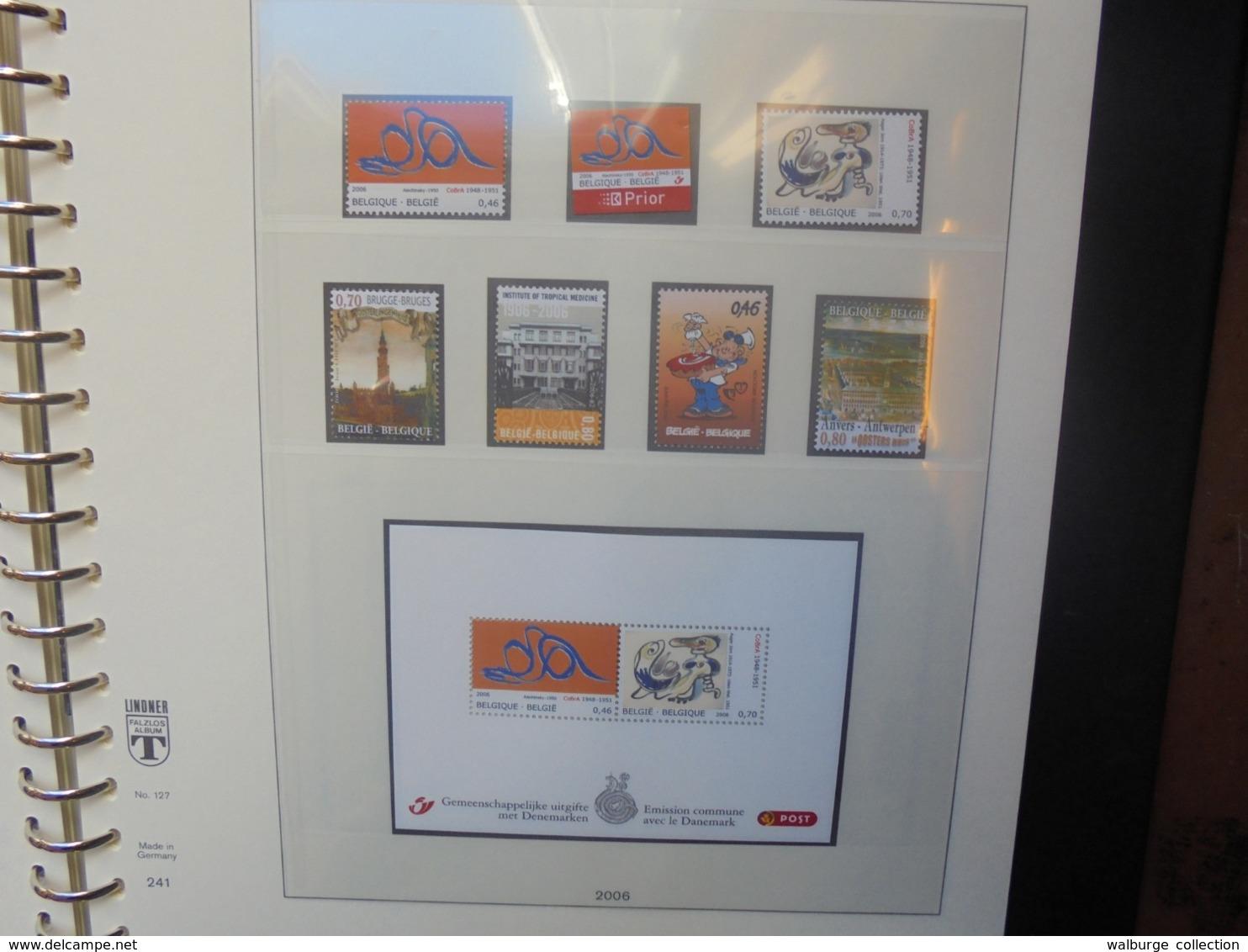 """START 1 EURO ! BELGIQUE 2006-2007 NEUVE (2542) 2 KILOS 300 ALBUM """"LINDNER"""" - Belgium"""