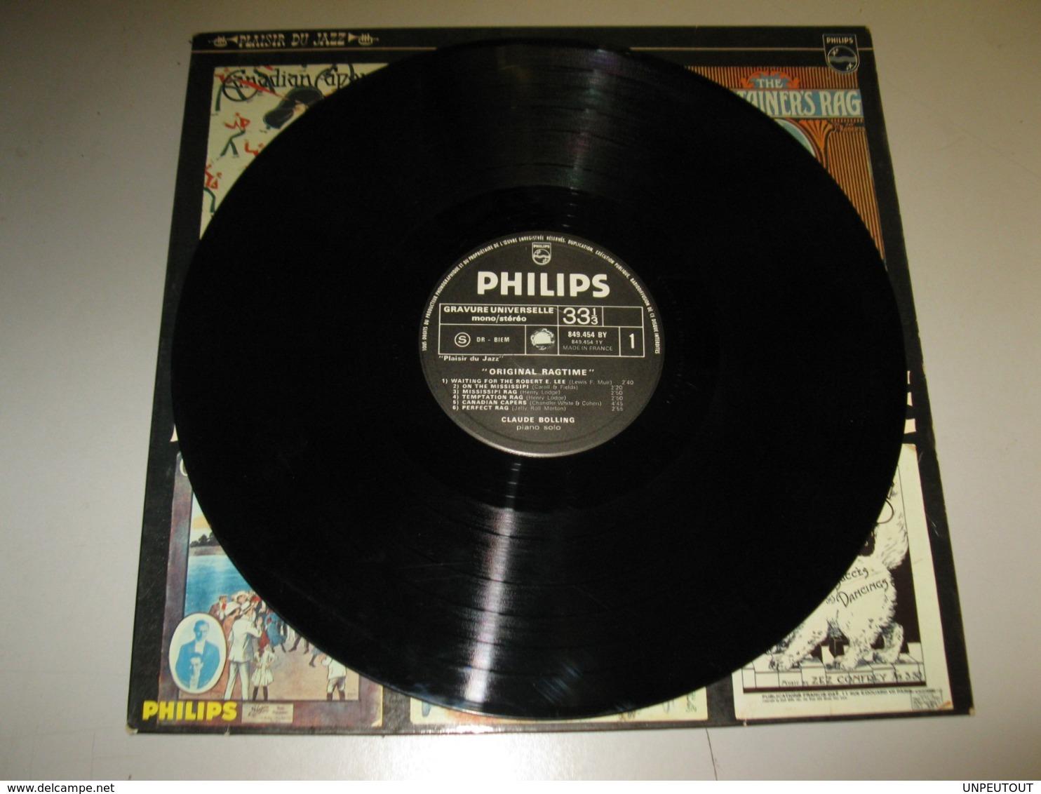 "VINYLE CLAUDE BOLLING ""ORIGINAL RAGTIME"" 33 T PHILIPS (1966) - Jazz"