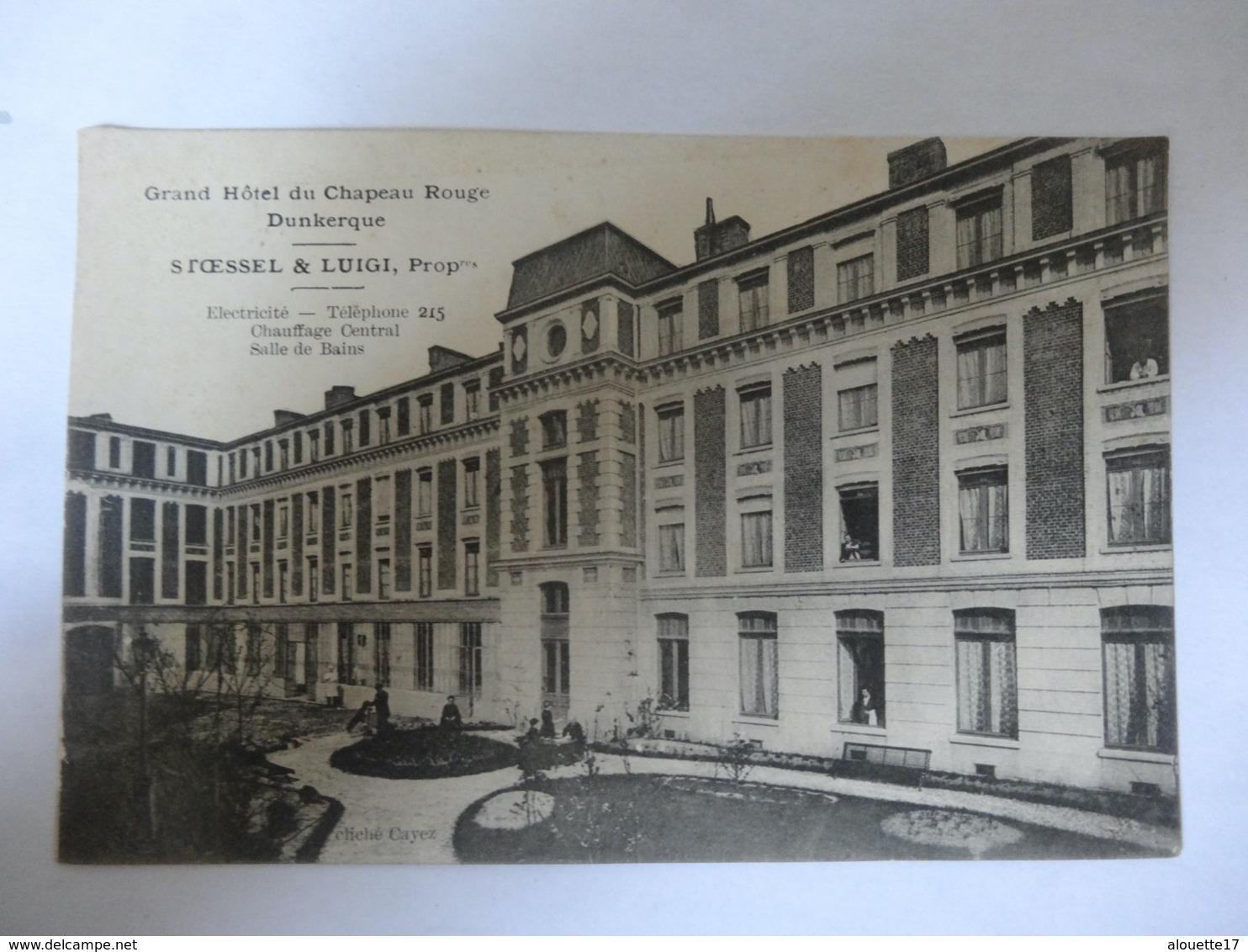 CPA GRAND HOTEL DU CHAPEAU ROUGE - Dunkerque