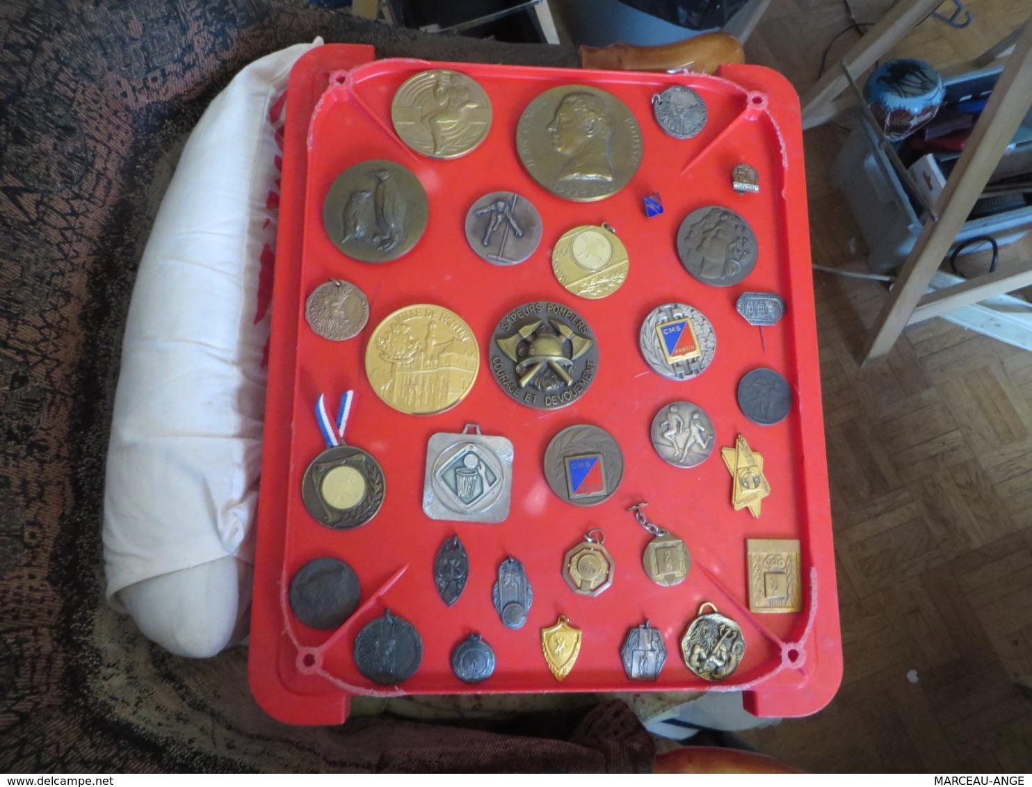 1 Lot De 31 MEDAILLES,INSIGNES,et Divers ,toutes Sont Photographiées Recto Et Verso ,poids 1 Kilo 700 Grammes - Autres