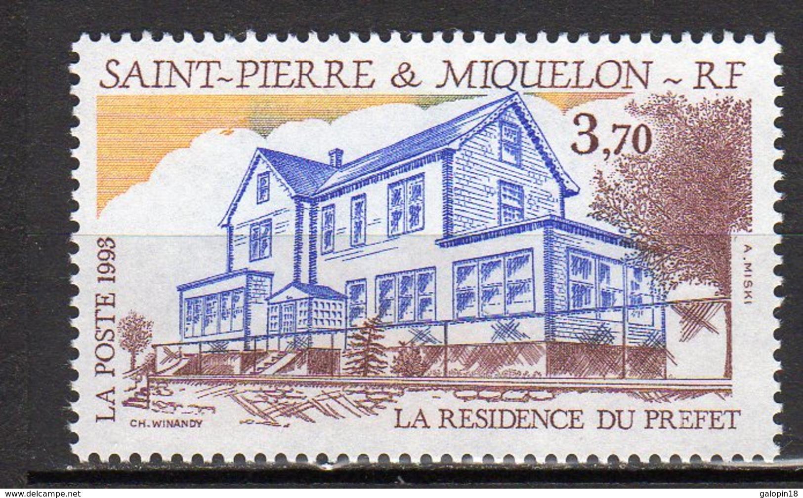 Saint-Pierre Et Miquelon Yvert N° 584 Neuf La Résidence Du Préfet Lot 22-89 - Ungebraucht