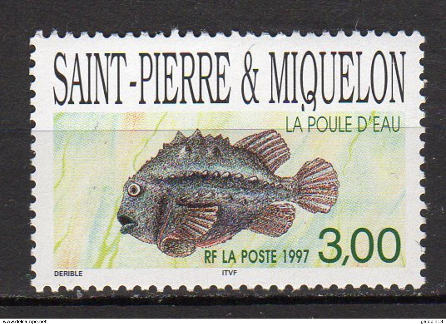 Saint-Pierre Et Miquelon Yvert N° 649 Neuf Poisson ( La Poule D'eau ) Lot 22-148 - St.Pierre & Miquelon