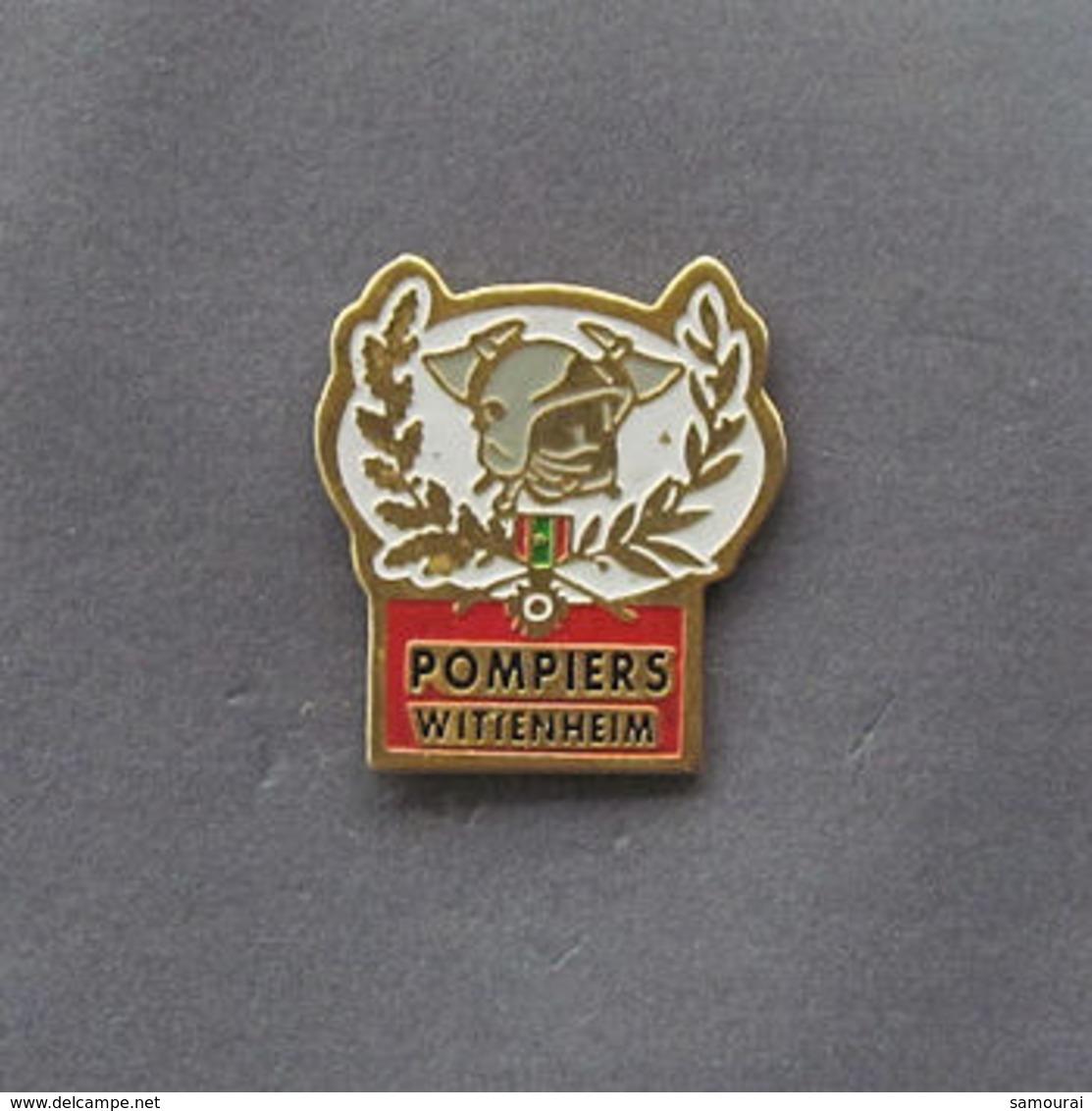 1 Pin's Sapeurs Pompiers De WITTENHEIM (HAUT RHIN - 68) - Brandweerman