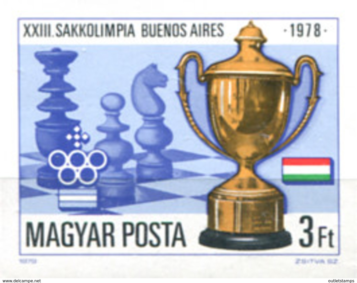 Ref. 20348 * NEW *  - HUNGARY . 1979. 23rd CHESS OLYMPIAD IN BUENOS AIRES. 23 OLIMPIADA DE AJEDREZ EN BUENOS AIRES - Nuevos