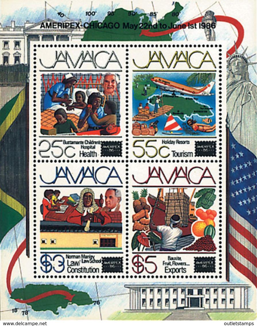 Ref. 54336 * NEW *  - JAMAICA . 1986. AMERIPEX-86 INTERNATIONAL PHILATELIC EXHIBITION . AMERIPEX 86. EXPOSICION FILATELI - Jamaica (1962-...)
