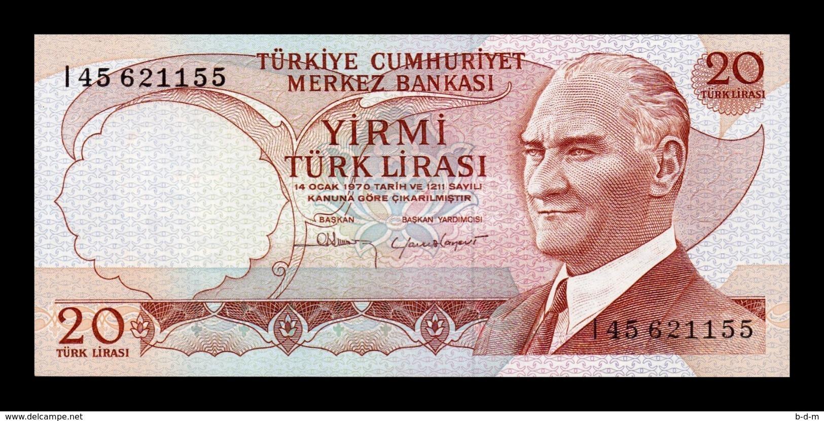 Turquía Turkey 20 Lira L.1970 Pick 187b SC UNC - Turkije
