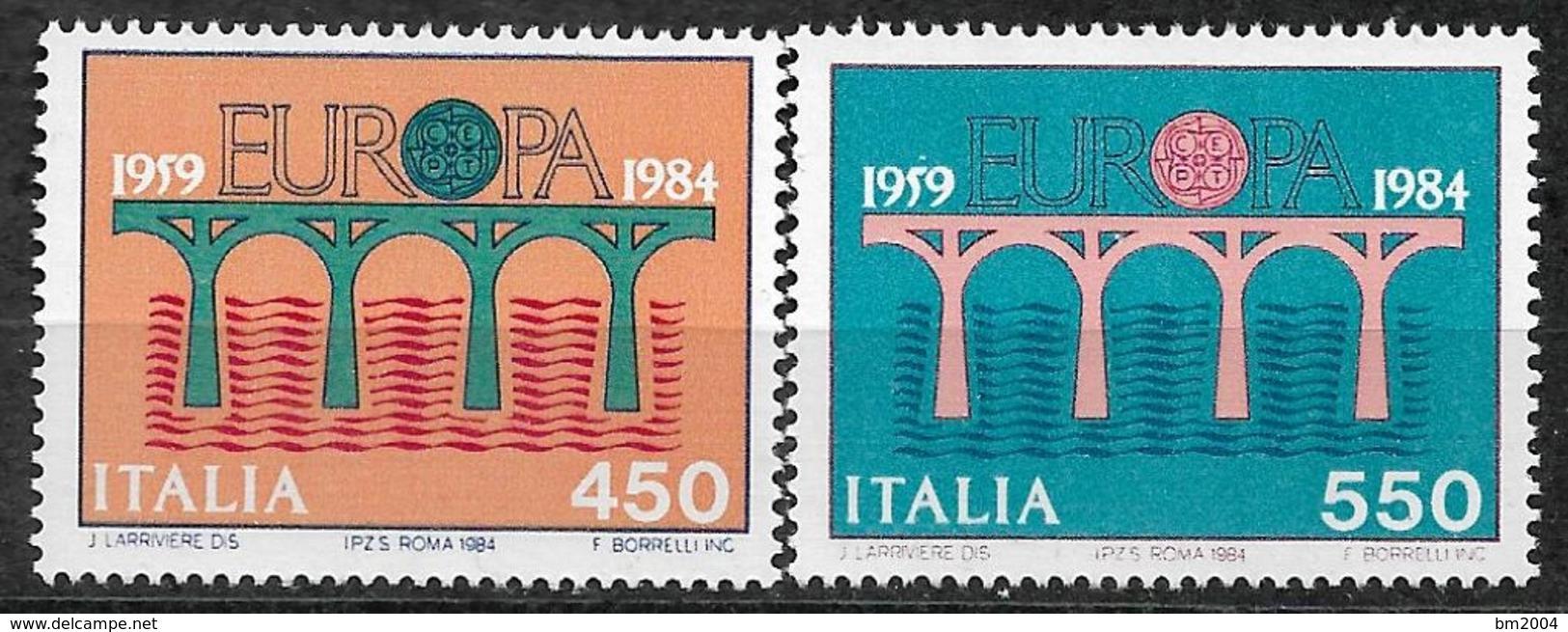 1984  Italien Mi. 1886-7**MNH  Europa: 25 Jahre Europäische Konferenz Der Verwaltungen Für Das Post- Und Fernmeldewesen - 1984