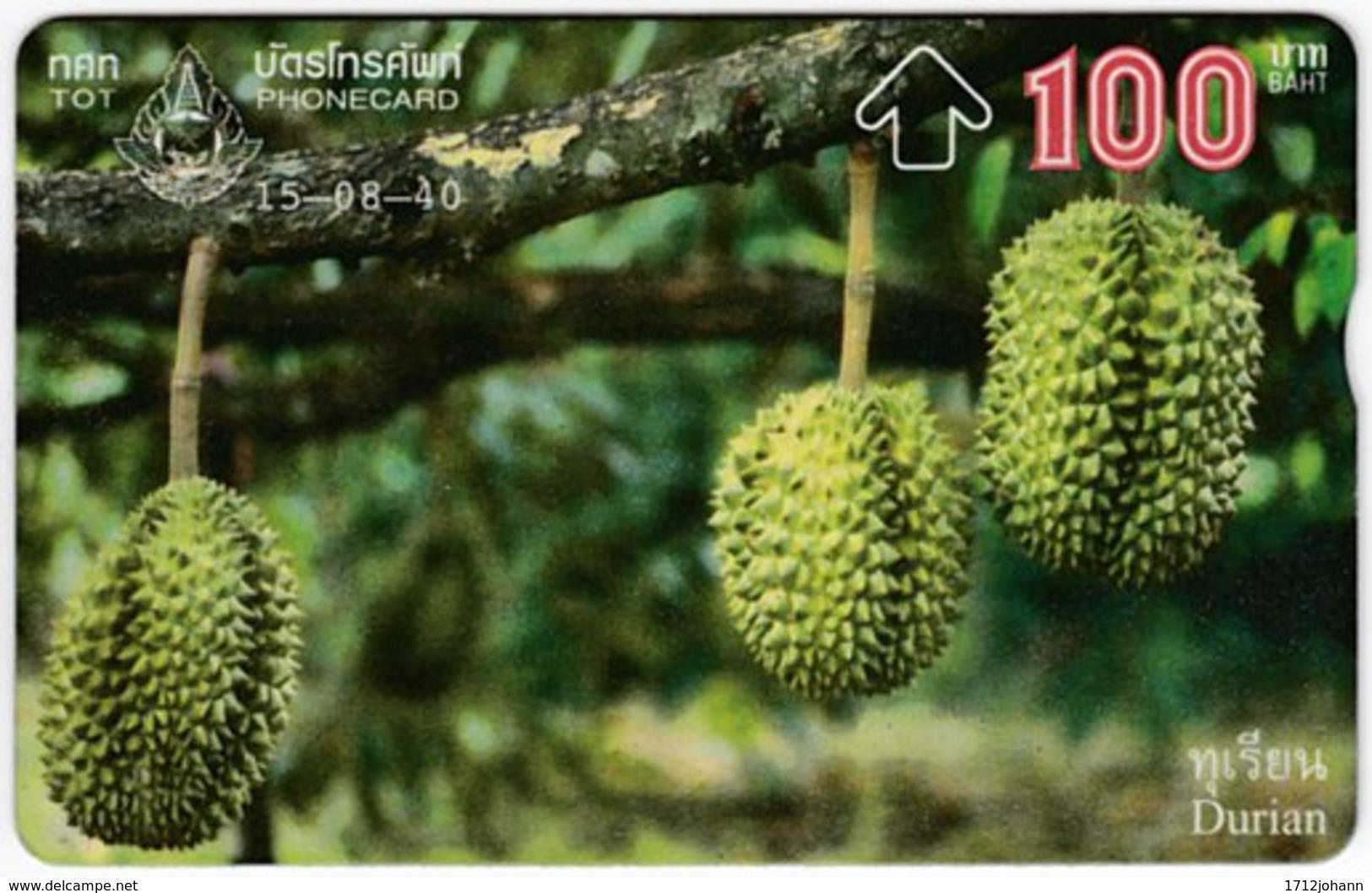 THAILAND F-174 Hologram TOT - Plant, Fruit - 745C - Used - Thaïland