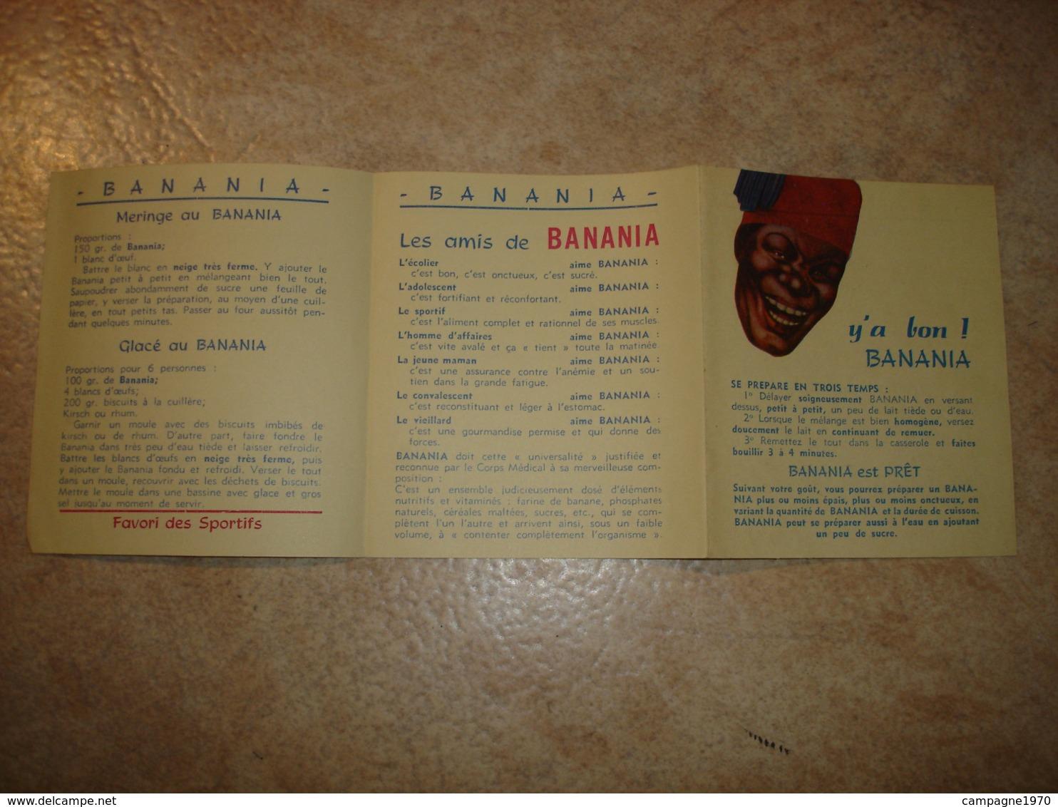 ANCIEN FEUILLET PUBLICITAIRE - BANANIA CHOCOLAT ( VERS 1950 ) - Publicités