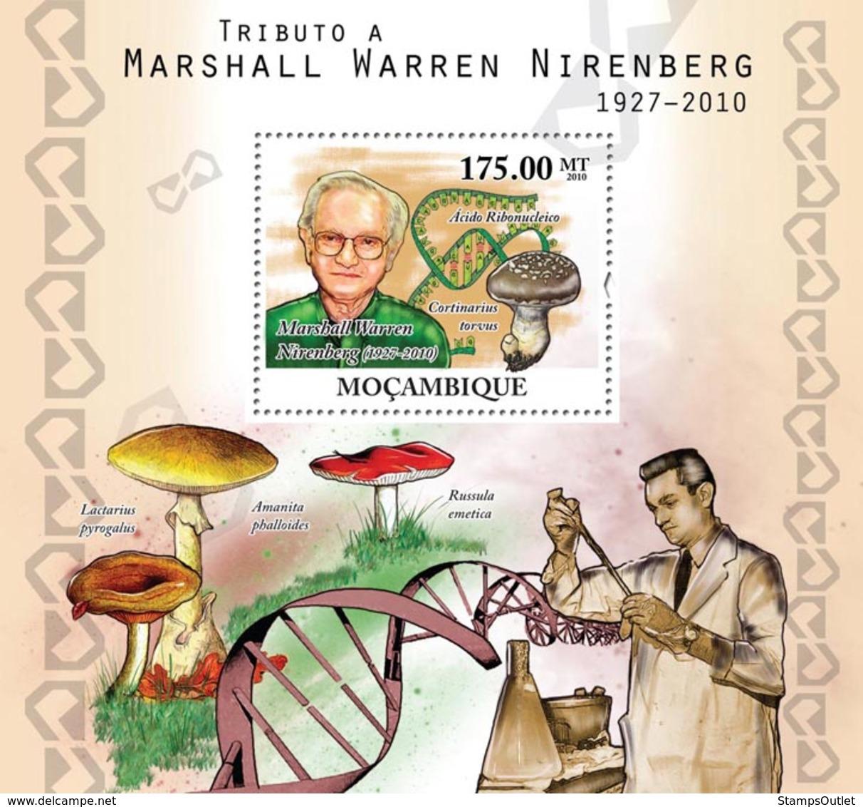 Mozambique 2010 MNH - Tribute To Marshall Warren Nirenberg (1927-2010) Nobel Prize. Sc 2118, YT 322, Mi 4244/BL400 - Mozambique