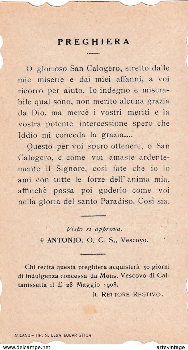 Santino - Fustellato - S.calogero Eremita - Venerato In S.francesco In Campofranco - Santini