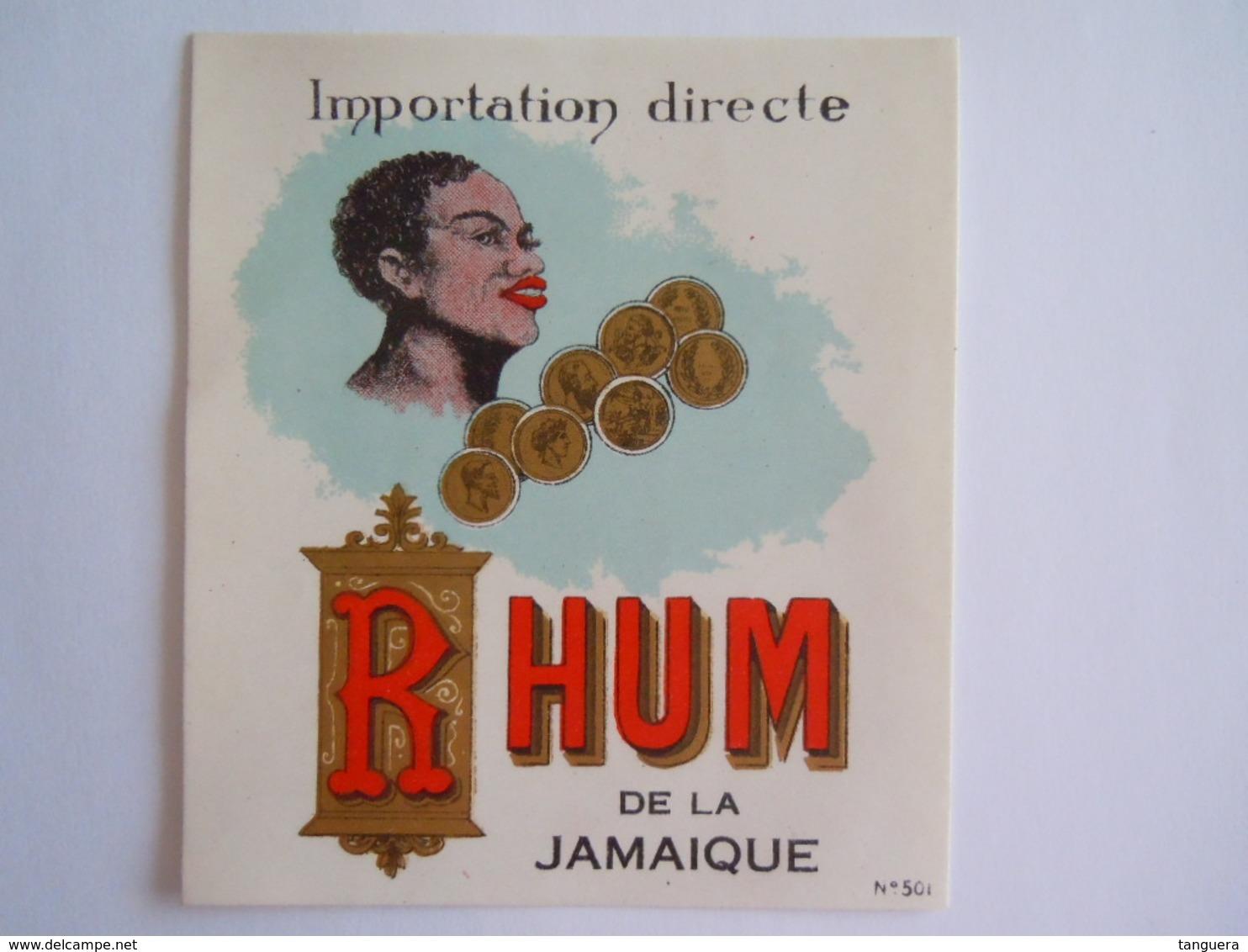 Etiket Etiquette Importation Directe Rhum De La Jamaique Dorée N° 501 - Rum
