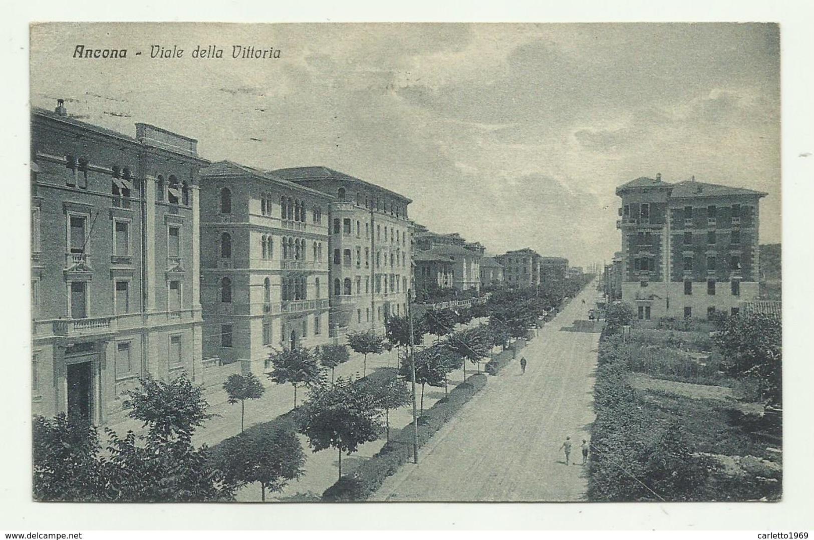 ANCONA - VIALE DELLA VITTORIA  1929   VIAGGIATA  FP - Ancona