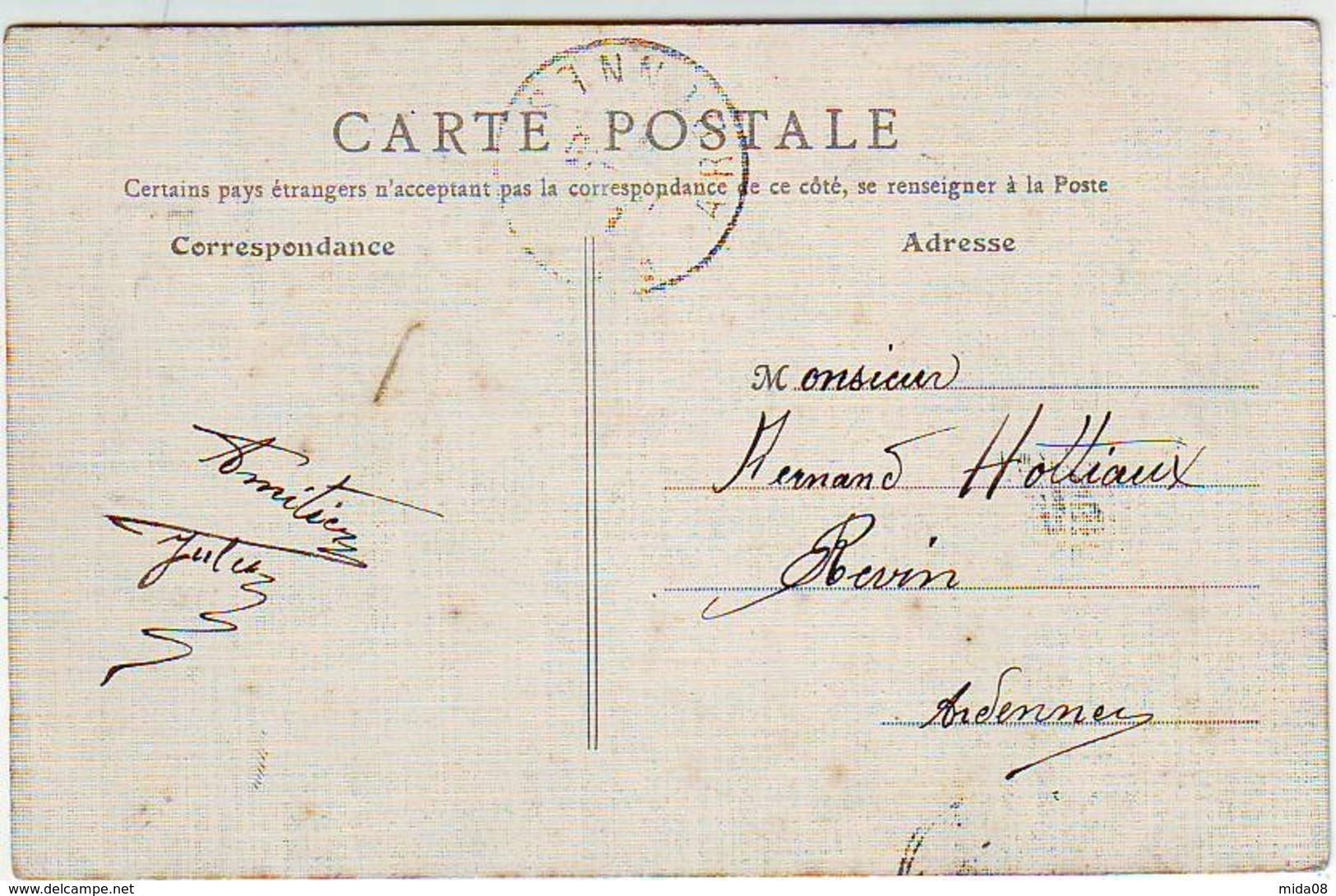 08. LA VALLEE DE LA MEUSE ILLUSTREE . GIVET . VUE SUR LA MEUSE . L'HOPITAL . ANIMEE . Editeur E. R. T. . CARTE TOILEE - Givet