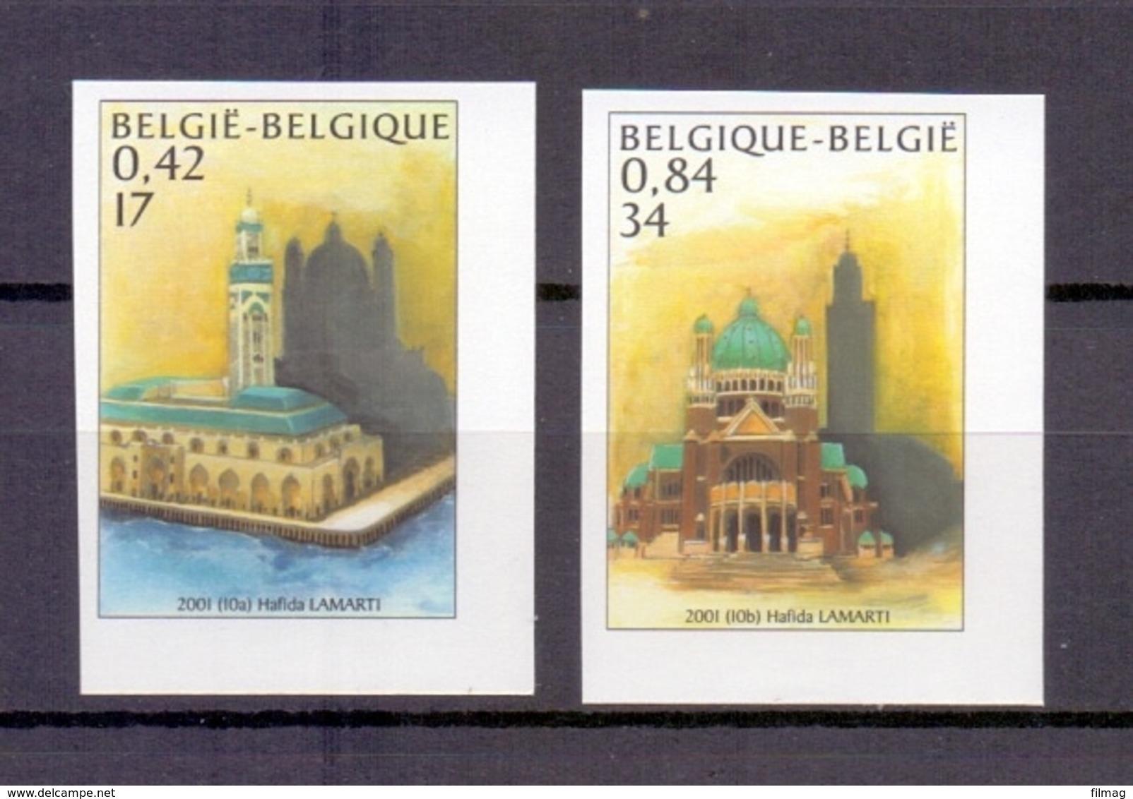 3002/3003 BASILIEK EN MOSKEE ONGETAND POSTFRIS** 2001 - Belgique