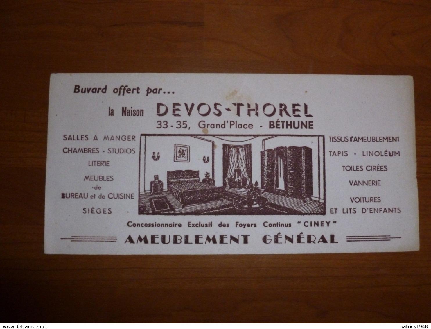 BUVARD DEVOS-THOREL AMEUBLEMENT GENERAL - Carte Assorbenti