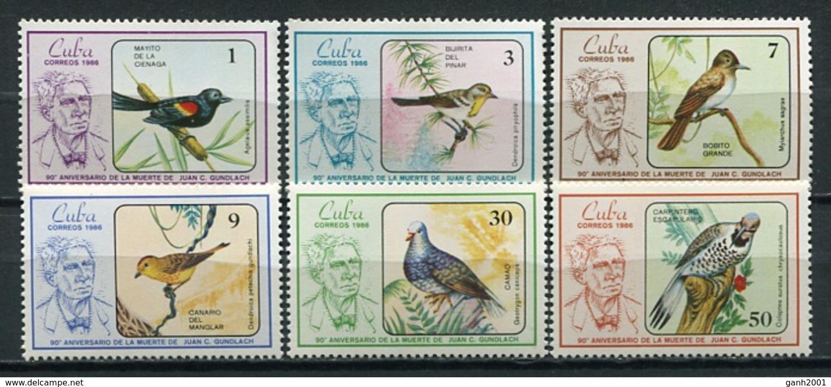 Cuba 1986 / Birds MNH Vögel Aves Oiseaux Uccelli / Cu8526  C3-7 - Pájaros