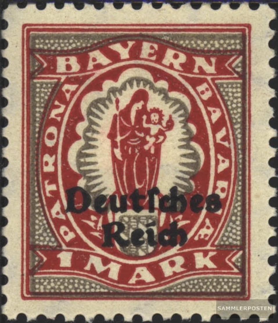Tedesco Empire 129 MNH 1920 Baviera-Addio - Ongebruikt