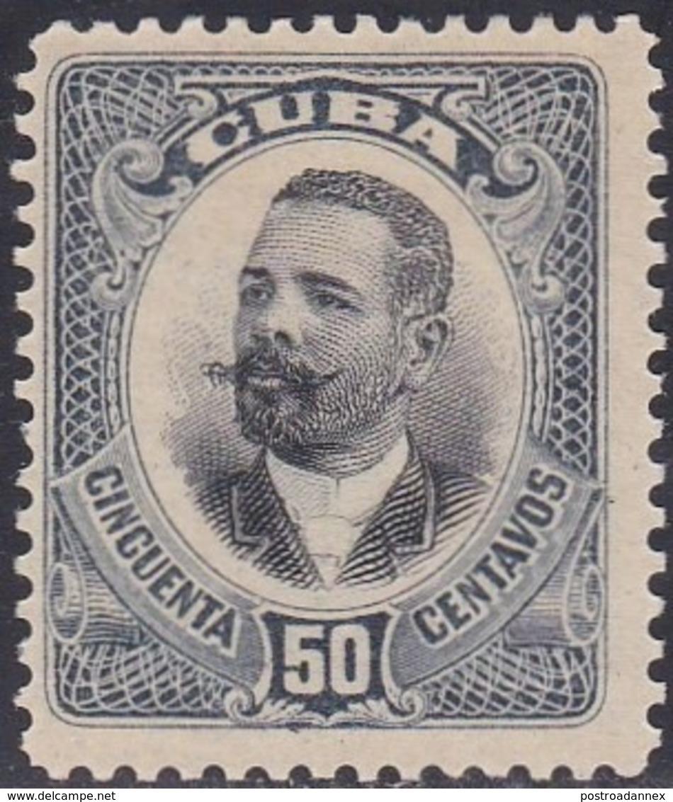 Cuba, Scott #238, Mint No Gum, Maj Gen Antionio Maceo, Issued 1907 - Unused Stamps