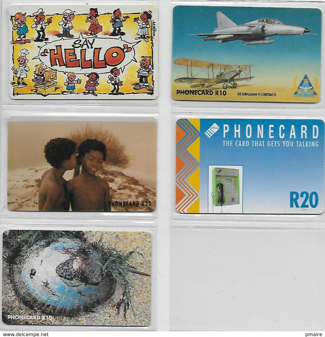 5 Cartes D' Afrique Du Sud RSA  Avions - Afrique Du Sud