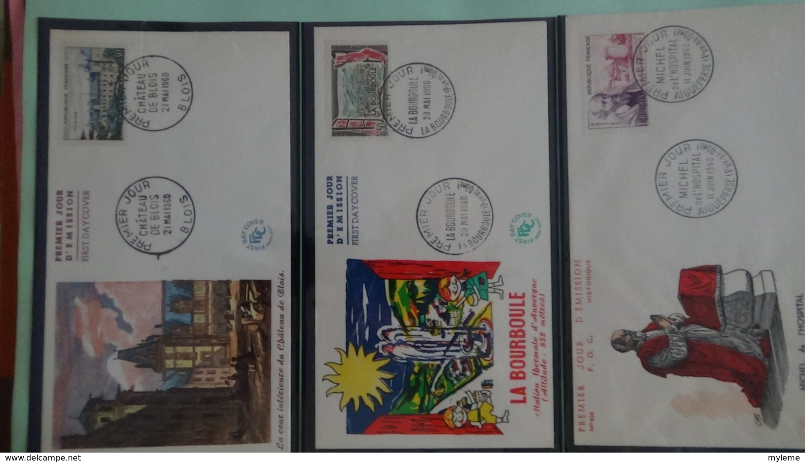 64 Enveloppes 1er Jour De France 1960 PORT OFFERT (lettre Verte)  Si Ce Lot Dépasse Les 10 Euros Soit 15cts/pièce - Francobolli