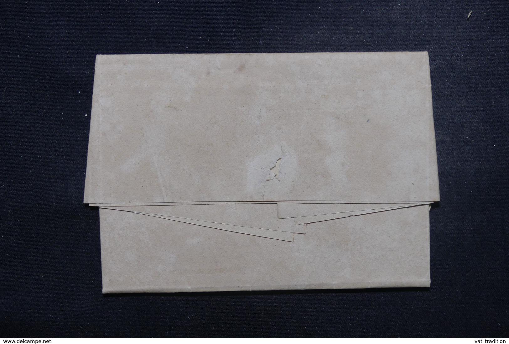 """FRANCE / ALLEMAGNE - Cachet D'entrée """" Allemagne Par Strasbourg """" Sur Lettre De Carlsruhe En 1819 - L 45778 - Marcofilia (sobres)"""