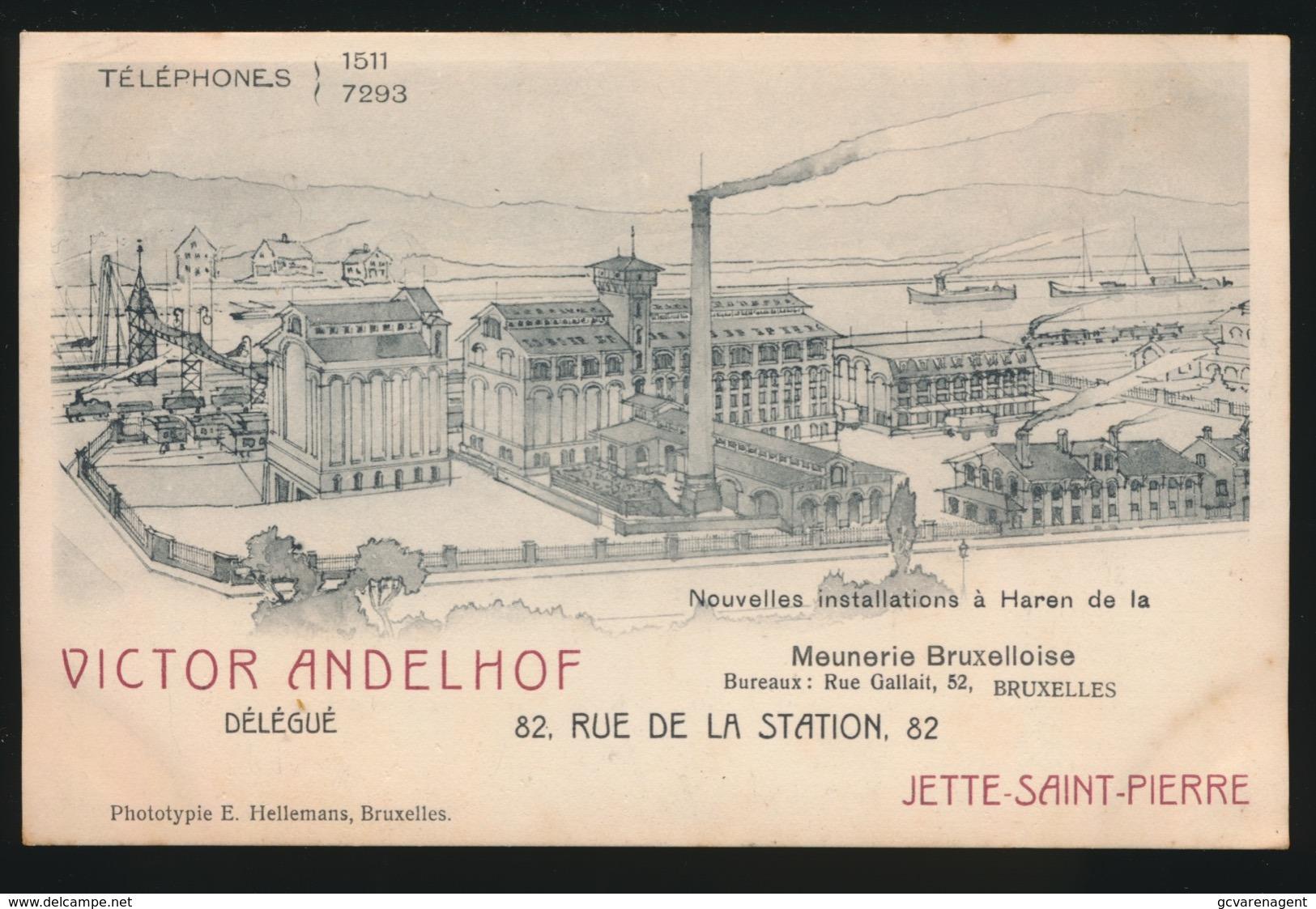 JETTE SAINT PIERRE - VICTOR ANDELHOF DELEGUE DE LA MEUNERIE BRUXELLOISE - RUE DE LA STATION 82 JETTE  2 AFBEELDINGEN - Jette