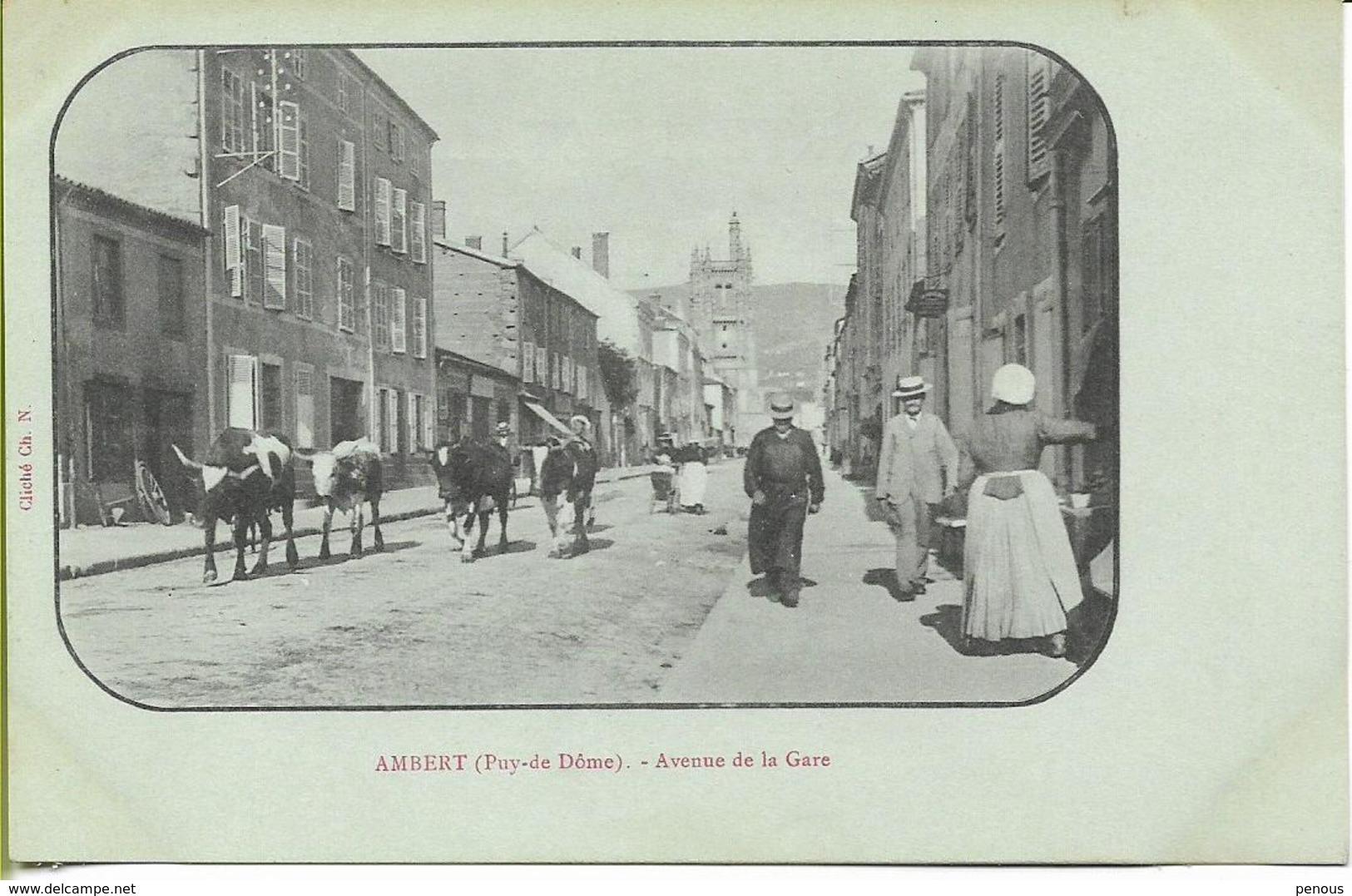 AMBERT   Avenue De La Gare - Ambert