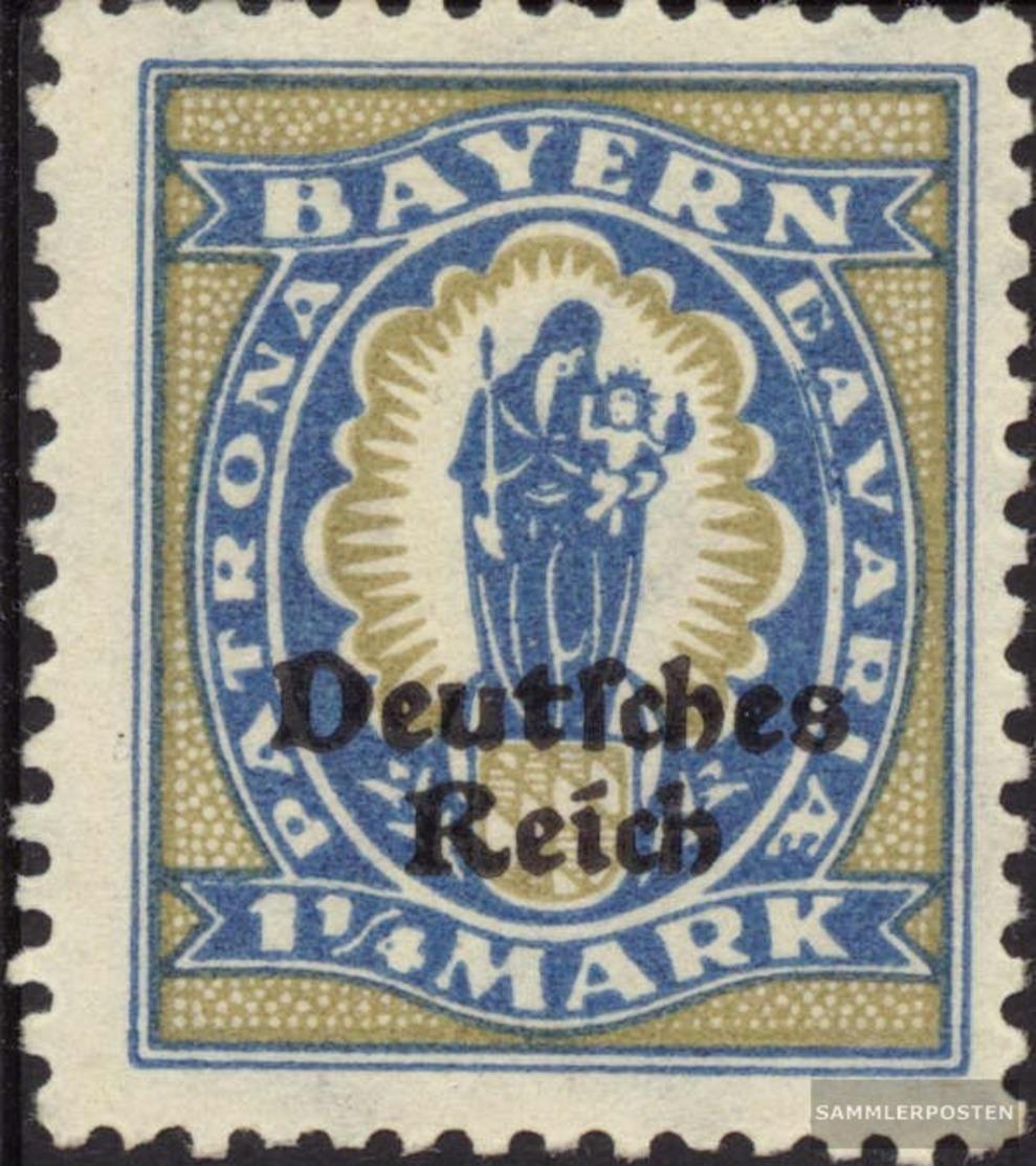 Tedesco Empire 130 MNH 1920 Baviera-Addio - Unused Stamps