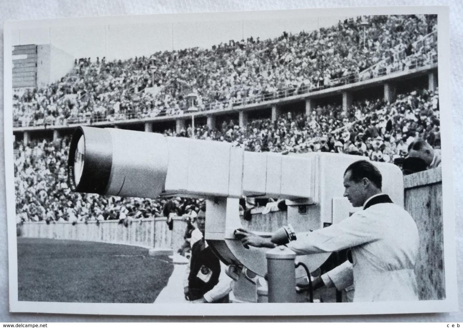 Foto Cromo Olimpiada De Berlín. Nº 194. Estadio, Telescopio. 1936. Alemania. Pre II Guerra Mundial. Gruppe 60. ORIGINAL - Tarjetas