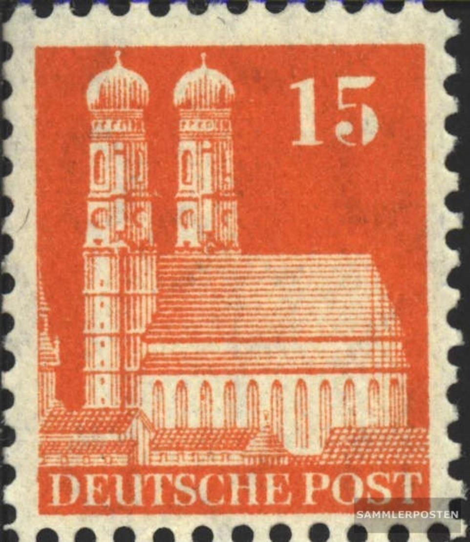 Bizonale (Allied Cast) 81 Lontano Dentato Con Fold 1948 Edifici - Zona Anglo-Américan