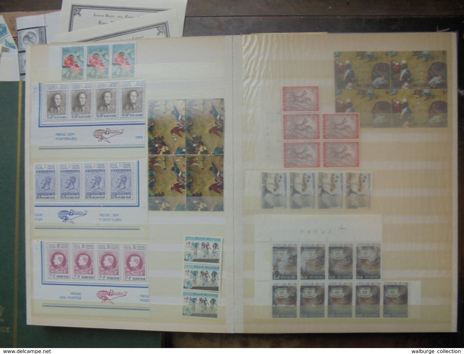 START 1 EURO ! BELGIQUE BEAU VRAC ANNEES 60-70-80s DONT BLOCS+ 53 CARNETS (3 KILOS) - Belgium