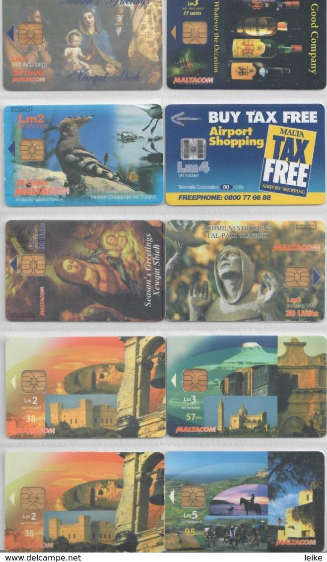 Malta 10 Different Chip Cards 01-10 - Malte