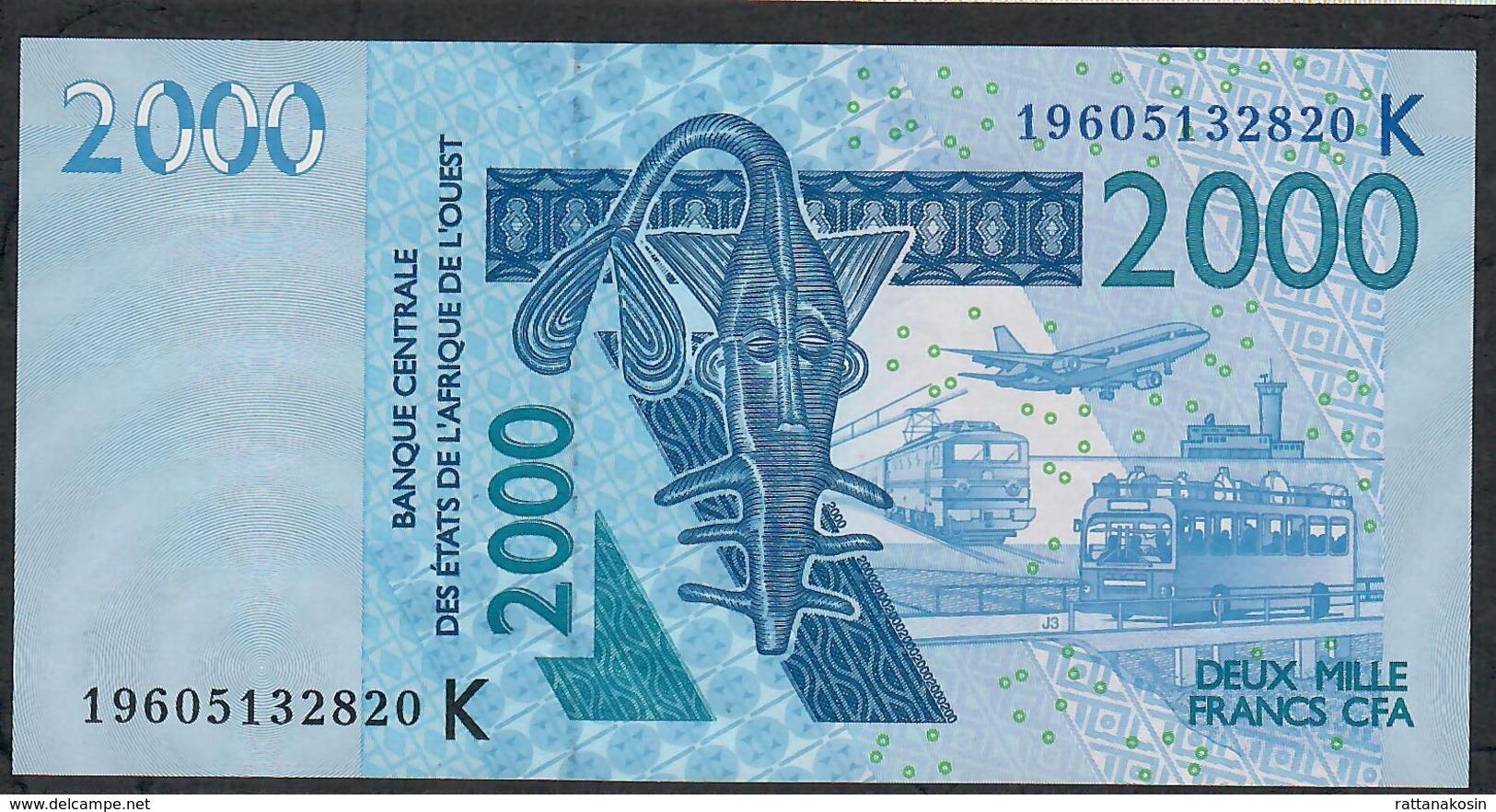 W.A.S. SENEGAL P716Ks 2000 FRANCS (20)19 2019 UNC. - West-Afrikaanse Staten