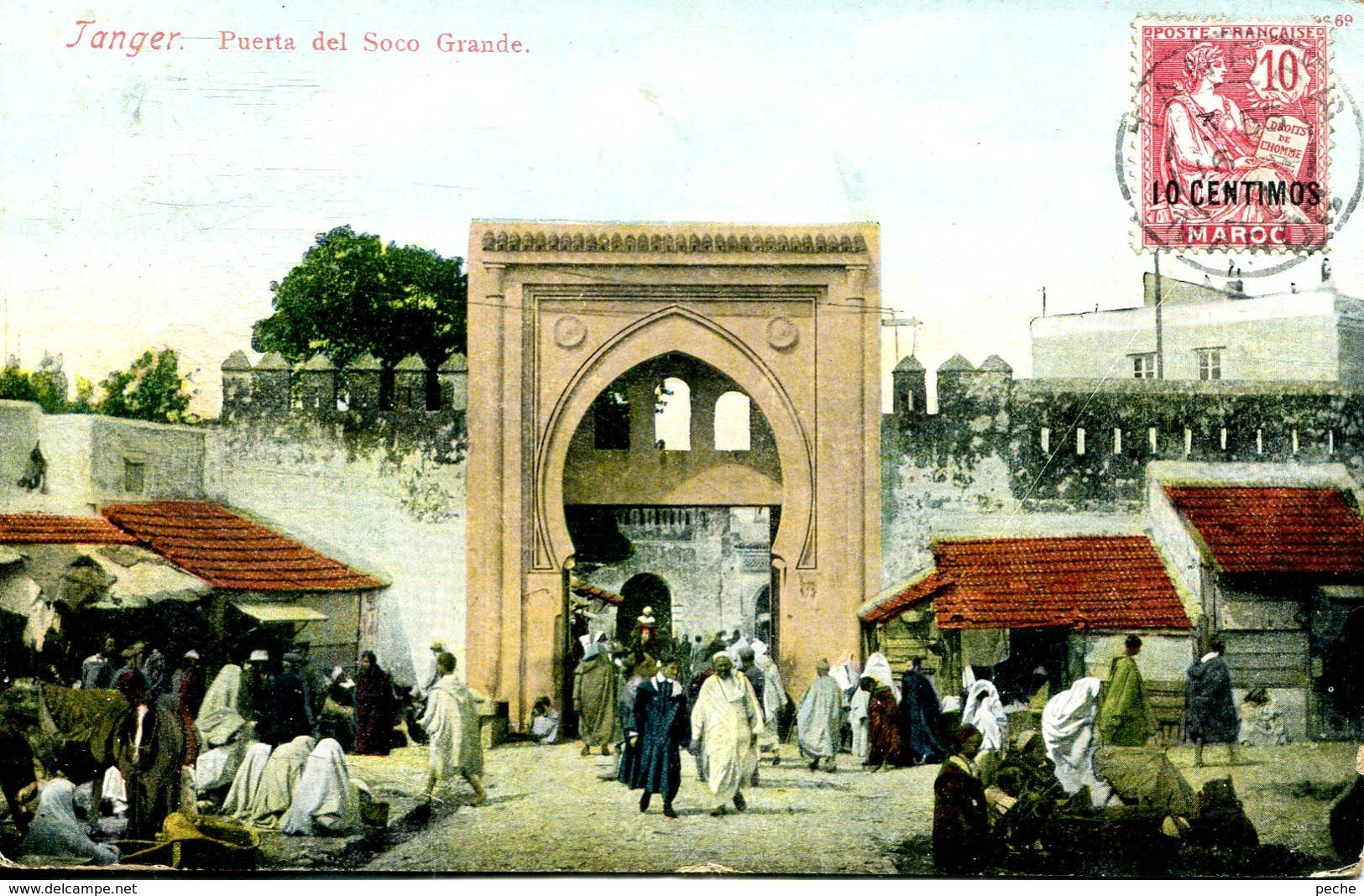 N°78107 -cpa Tanger -Puerta Del Soco Grande- - Tunisie