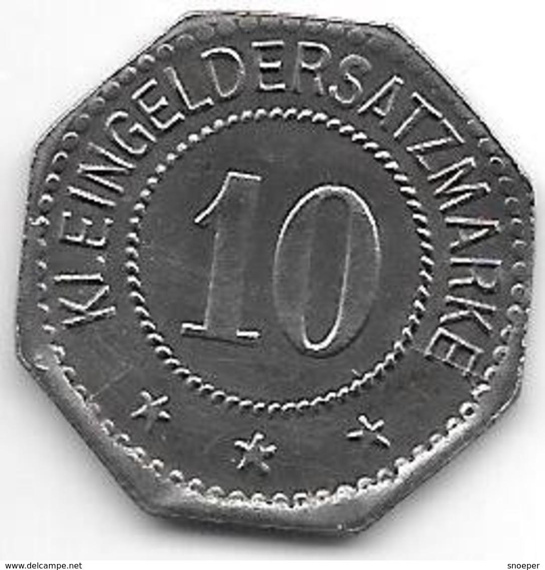 *notgeld  Oschersleben 10 Pfennig  1917 Fe  412.6b - [ 2] 1871-1918 : Empire Allemand