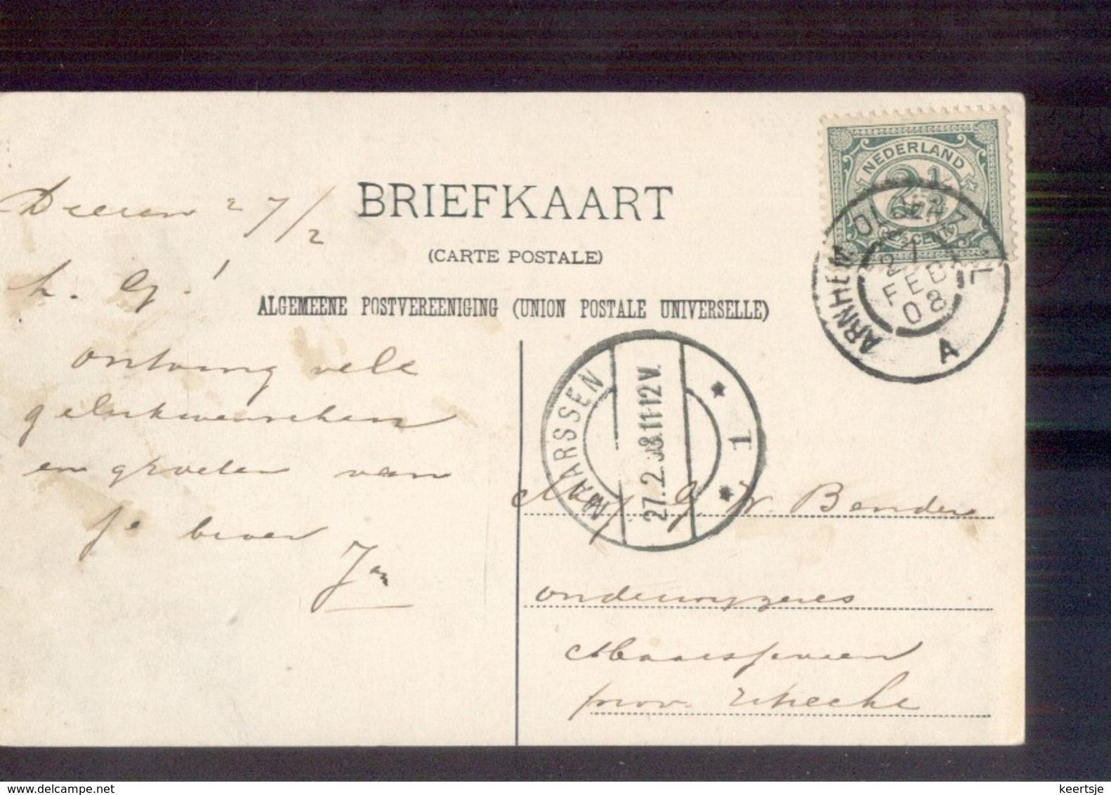 Arnhem Oldenzaal A Grootrond - Maarssen Langebalk 1 - 1908 - Poststempel