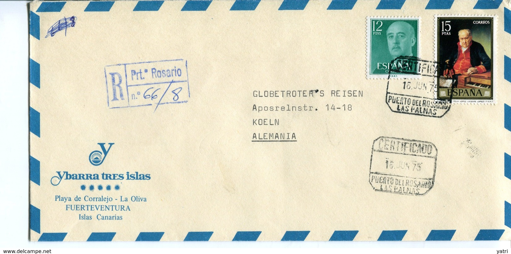 Spagna (1975) - Busta Per La Germania - 1931-Oggi: 2. Rep. - ... Juan Carlos I