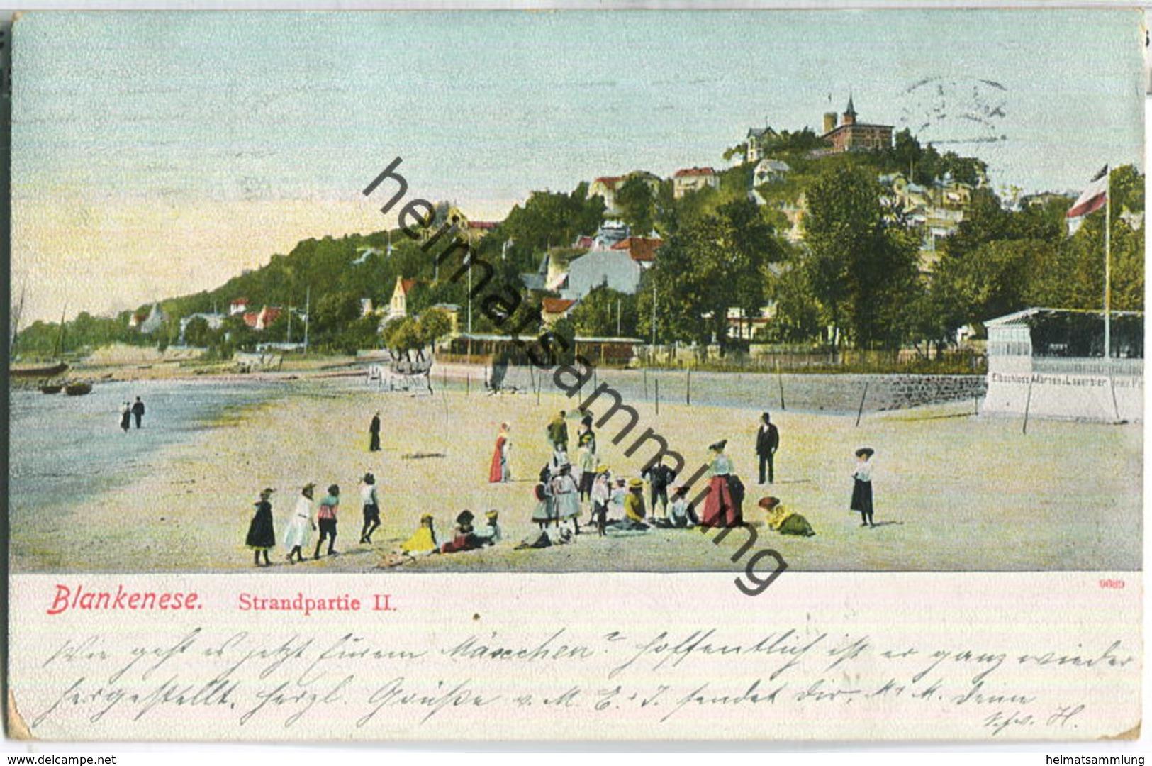 Hamburg-Blankenese - Strandpartie - Verlag A.N.H. 1907 - Blankenese