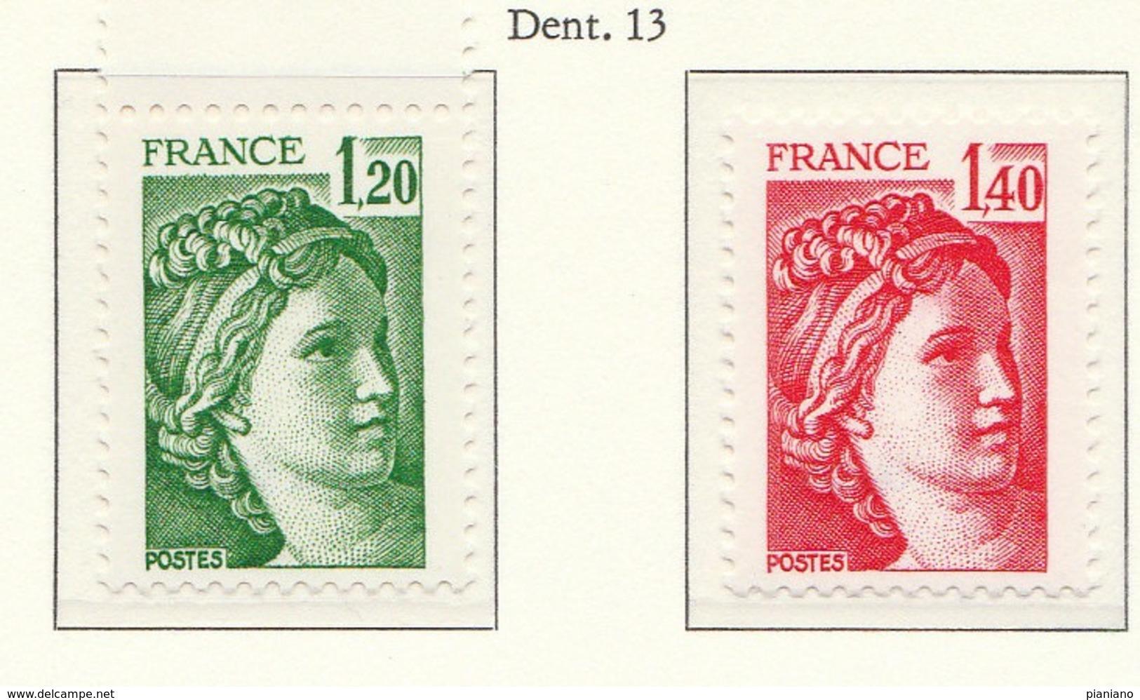 "PIA - FRANCIA - 1980 : Uso Corrente : ""Sabina"" -  (Yv  2101b-2102b) - Francia"