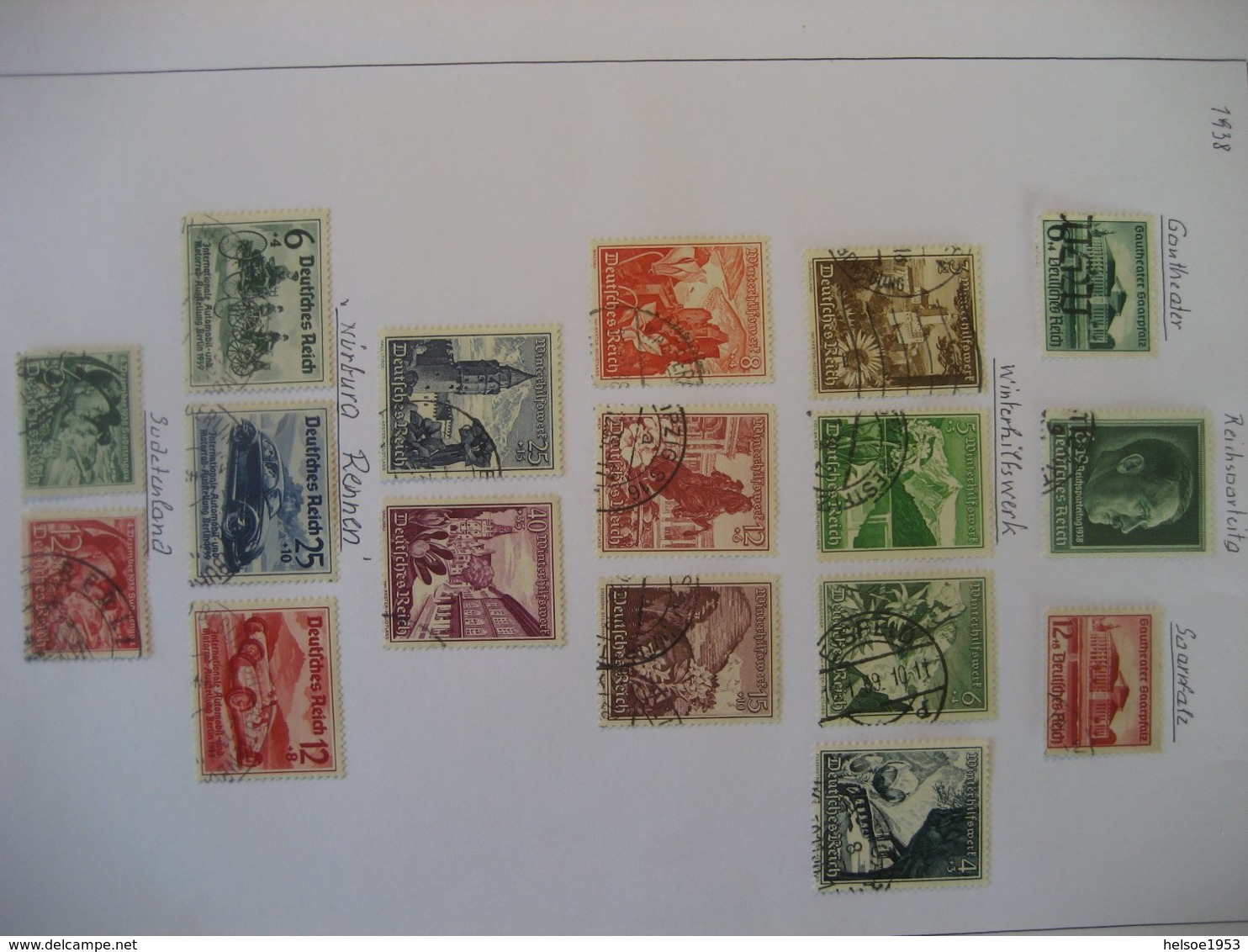 Deutschland/ Deutsches Reich- Mi. 676-674, Mi. 672, Winterhilfswerk Mi. 675-683, Automobilausst. Mi. 686-688, Mi. 684-85 - Germany