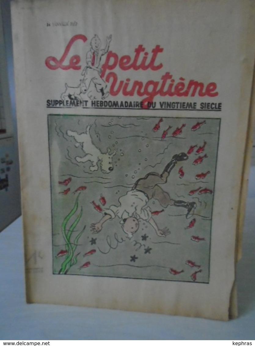 HERGE - TINTIN - Le Petit Vingtième - 14 Janvier 1937 - Bon Etat - QQ Petits Défauts - Hergé