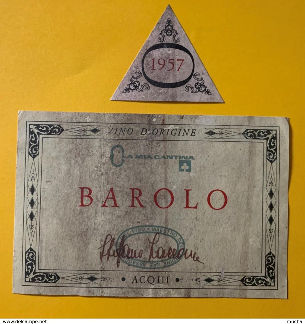 12124 - Barolo 1957 Italie - Etiquettes