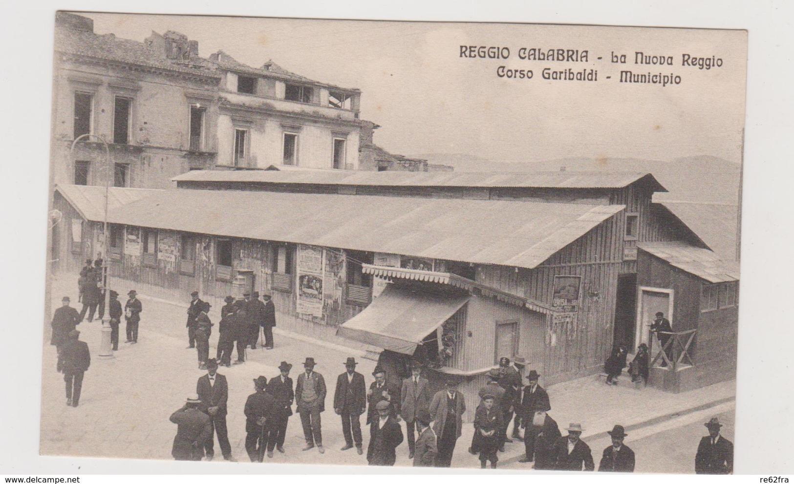 Reggio Calabria, La Nuova Reggio, Corso Garibaldi - Municipio  - F.p. -  Anni '1908-1910 - Reggio Calabria