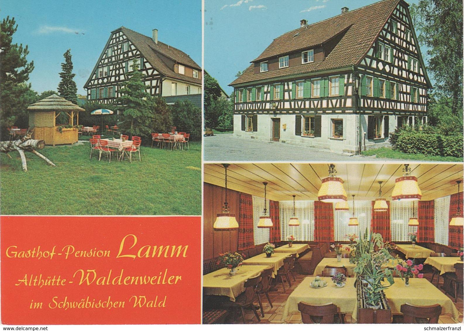 AK Waldenweiler Gasthof Pension Zum Lamm A Althütte Sechselberg Däfern Hohnweiler Lippoldsweiler Ebersberg Murrhardt - Backnang