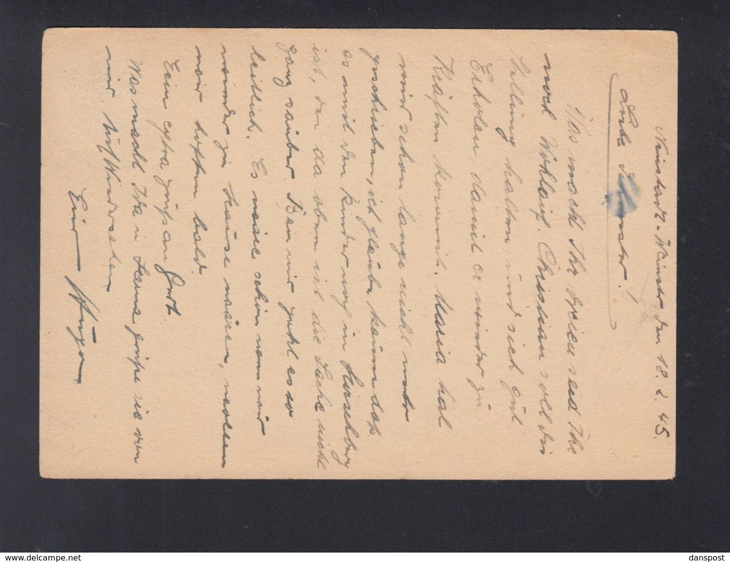 Dt. Reich PK 1945 Mugsbach Pfalz - Briefe U. Dokumente